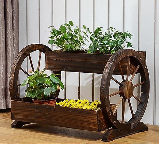 Flor Soporte Creativo de Madera Flor Caja de carbonización pérgola antiséptica jardín Maceta Yard al Aire Libre Jardiniere: Amazon.es: Hogar