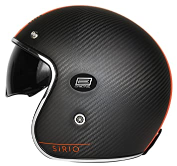 Origine Helmets - Casco Jet de fibra de carbono 202587025100703, Sirio Style, naranja,