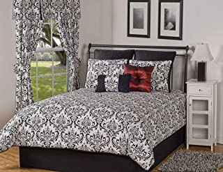 product image for Victor Mill Astor Queen Throw Bedspread 102W x 118L Black and White