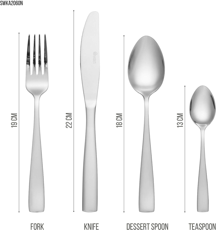 16 PIECE CUTLERY SET STAINLESS STEEL FORK KNIVES TEA DESSERT DINNER SPOONS