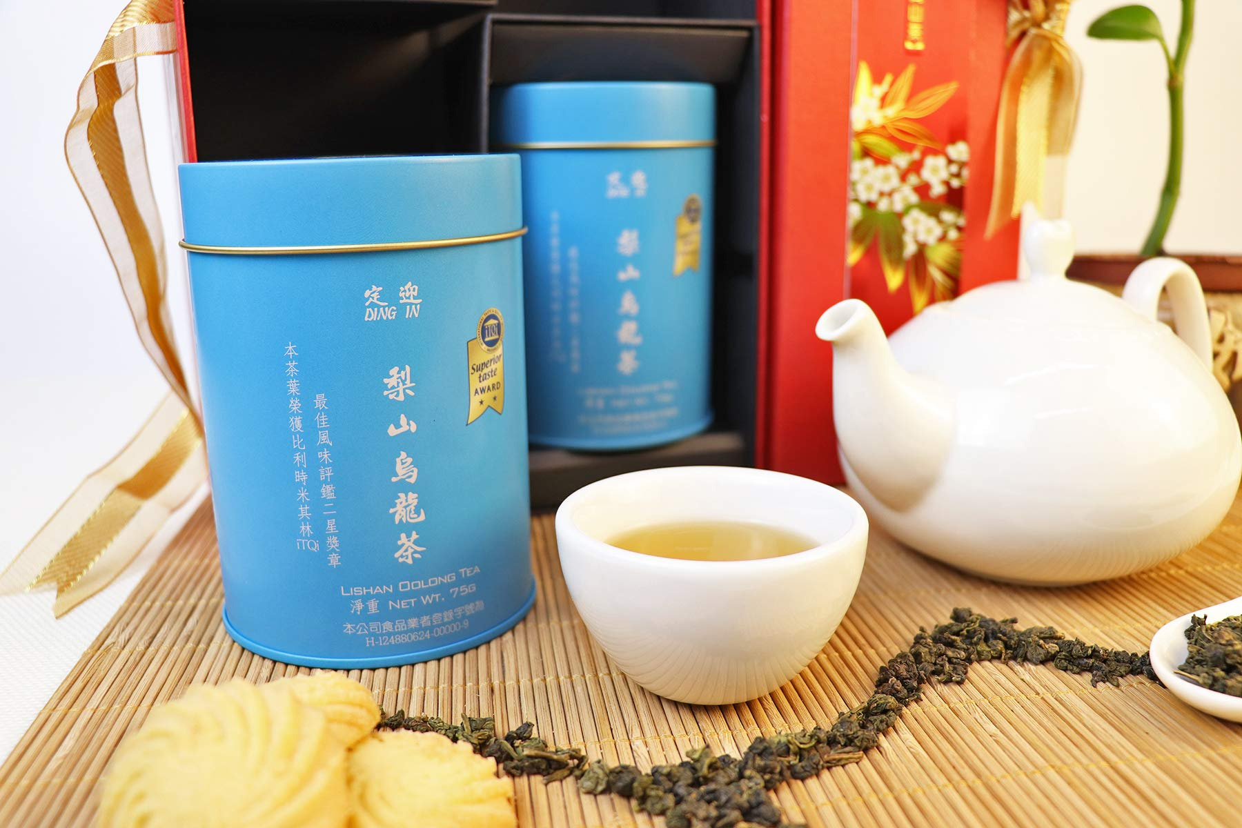 DING IN Lishan Oolong Tea Feast Straight Gift Box 75g/2cans by Ding In ltd. (Image #4)