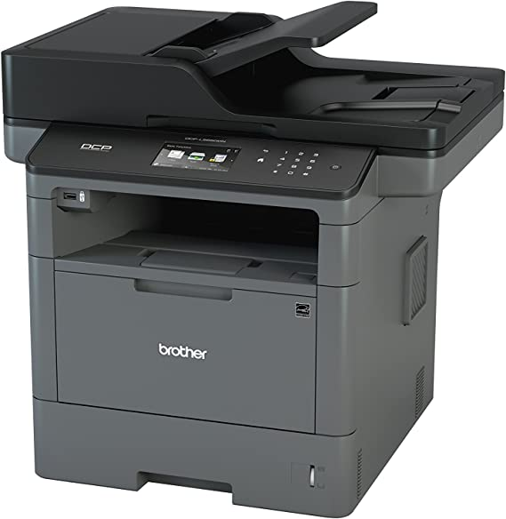 Brother Monochrome Laser Printer, Multifunction Printer and Copier, DCP-L5650DN, Flexible Network Connectivity, Duplex Print & Copy & Scan, Mobile ...