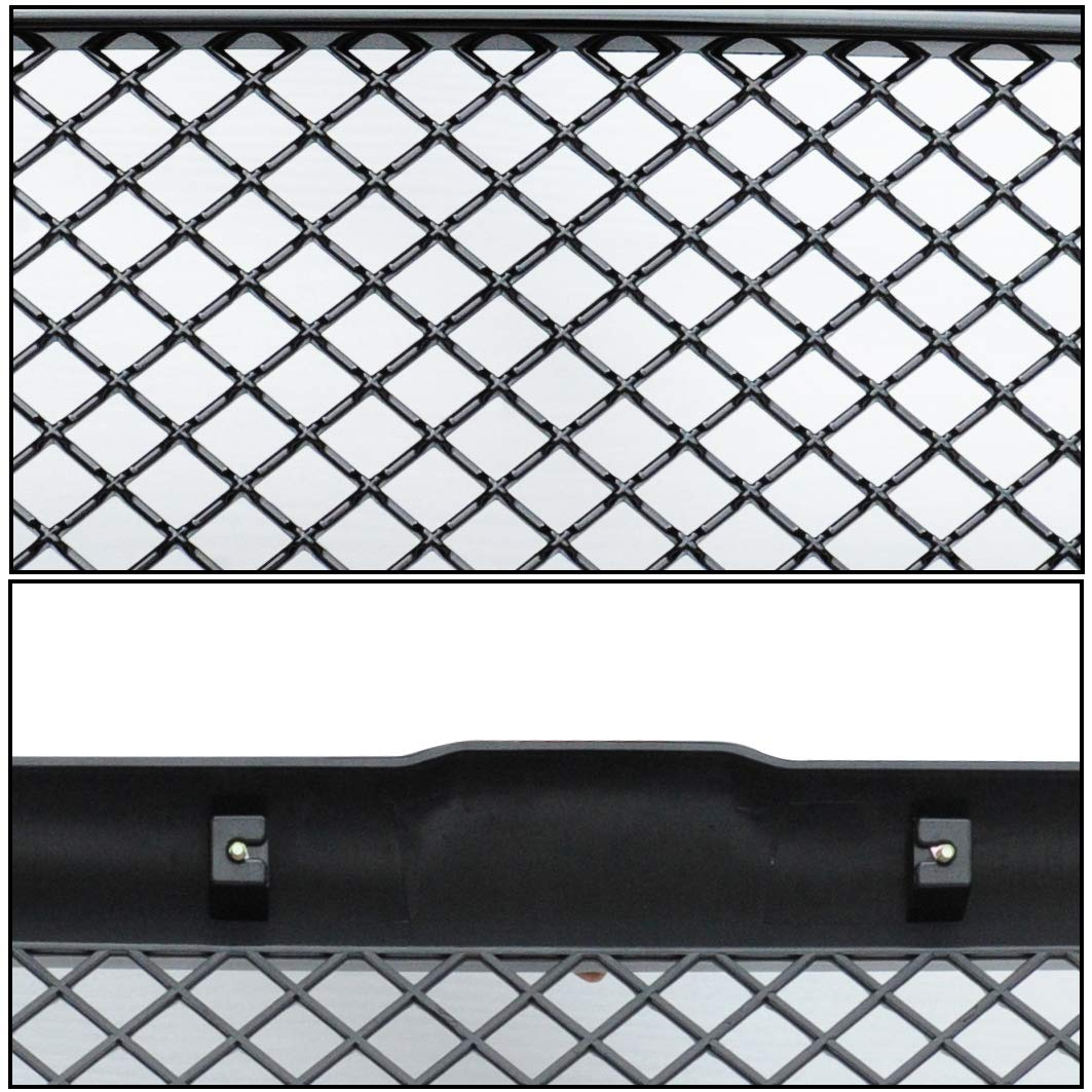 MPH Autoparts Black Mesh Front Hood Bumper Grill Grille ABS For 1994-2001 Dodge Ram 1500//2500//3500