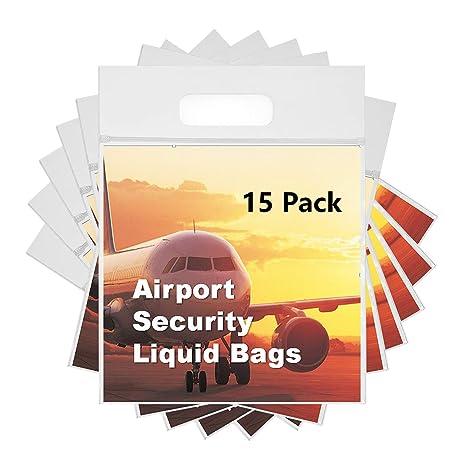 3e19509b79 MOCOCITO Sacchetti Plastica Trasparenti Richiudibile per Trasporto Liquidi  in Aereo da 1 Litro di Capacità e