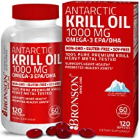 Bronson Antarctic Krill Oil 1000 mg with Omega-3s EPA, DHA, Astaxanthin and Phospholipids...