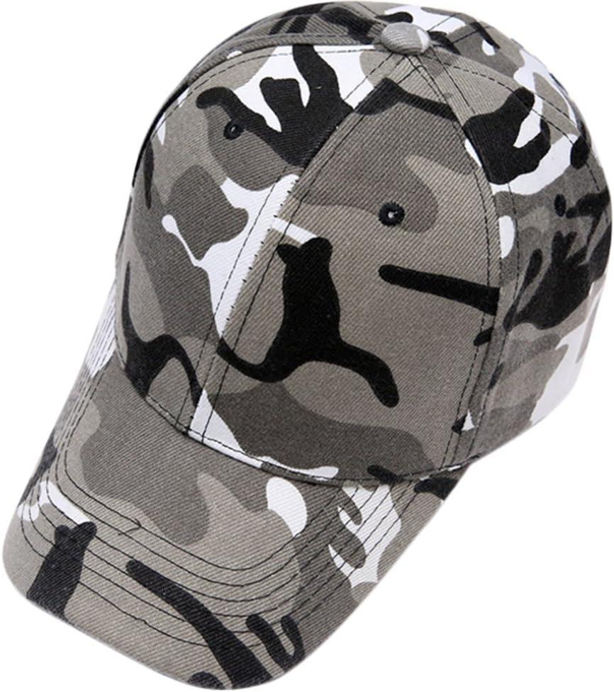 Westeng Sombreros Elegante Gorra de Béisbol Aire Libre Sombrero Sombrero de Camuflaje Ajustable del Sombrero para Hombre Mujer (Gris)