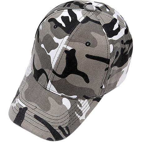 Westeng Sombreros Elegante Gorra de Béisbol Aire Libre Sombrero Sombrero de  Camuflaje Ajustable del Sombrero para 453562c7f9f
