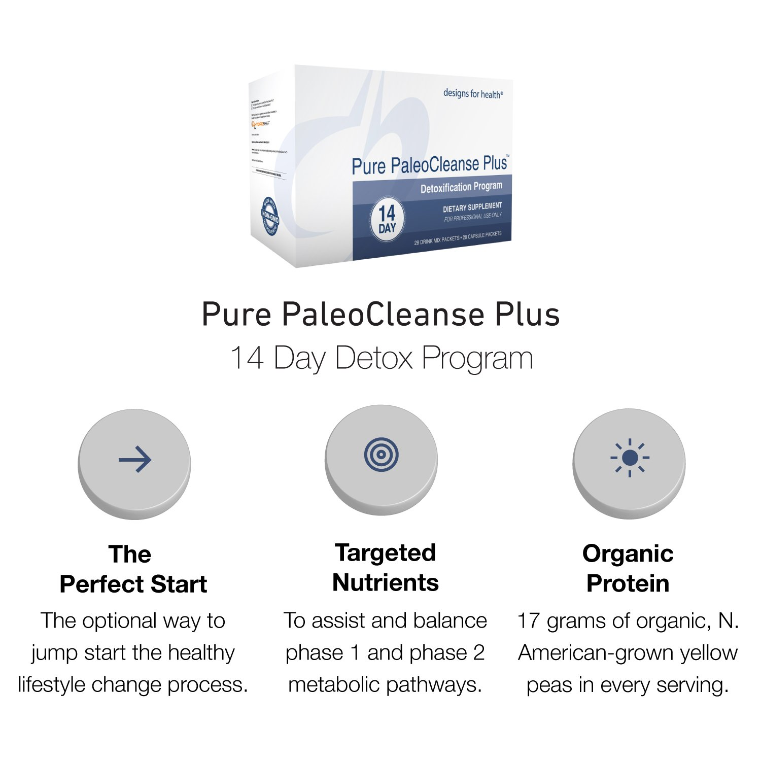 Designs for Health - Pure PaleoCleanse Plus 14 Day Detox Program - Bone Broth Protein + Green Tea + Alkalizing Vegetables for Liver Support, 28 Packs by designs for health (Image #3)