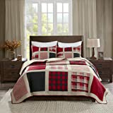 Woolrich Reversible Quilt Cabin Lifestyle Design - All Season, Breathable Coverlet Bedspread Bedding Set, Matching Shams…
