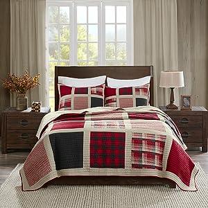 Woolrich Huntington Quilt Mini Set Cal King Red, King King