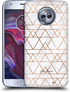 Head Case Designs Officially Licensed Nature Magick Copper Metallic Nouveau Geometric Rose & Gold Marble Hard Back Case Compatible with Motorola Moto X4