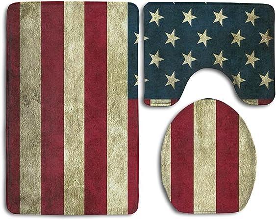 Amazon.com: Vintage bandera americana alfombra de baño ...