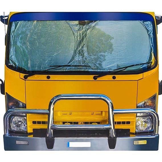 Dontdo - Parasol plegable para parabrisas delantero de coche, para camión o furgoneta plateado plata Talla:190cm x 90cm