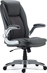 Staples 24328568 Sorina Bonded Leather Chair Grey (53253)
