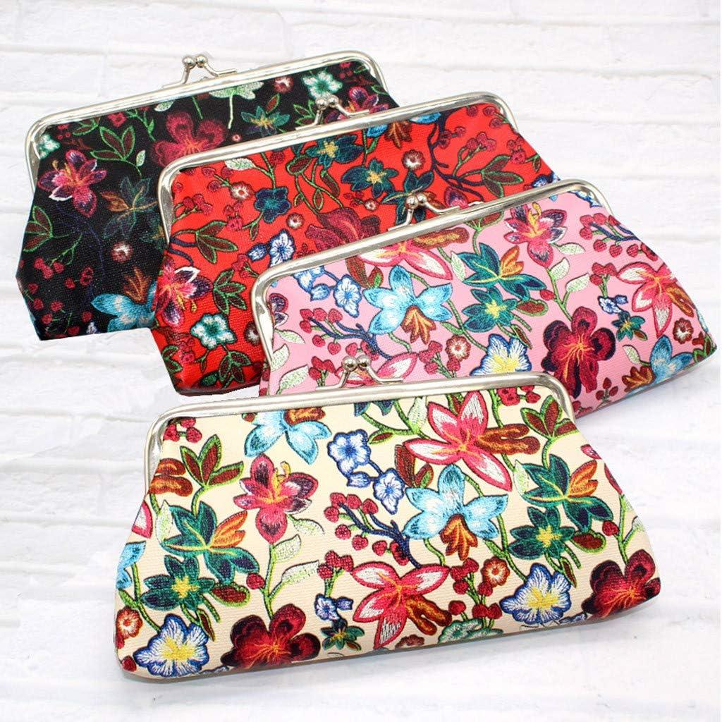 Farmers Womens Retro Printing Flower Leather Wallet Coin Purse Card Holders Handbag