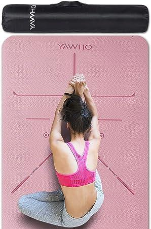 183 x 63 cm Yogamatte Gymnastikmatte Fitnessmatte Bodenmatte Pilates Rutschfest