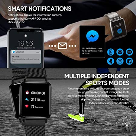 Amazon.com: QiyuanLS - Reloj inteligente con rastreador de ...