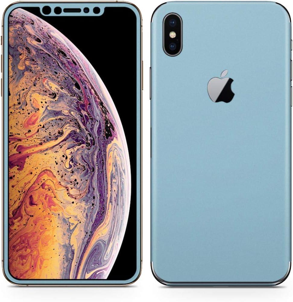 igsticker iPhone Xs Max Skin Sticker Full Body Coverage Vinyl Decal - Dustproof Anti-Scratch for Apple iphonexs max xsmaxfull-009005-ds Simple Plain Green