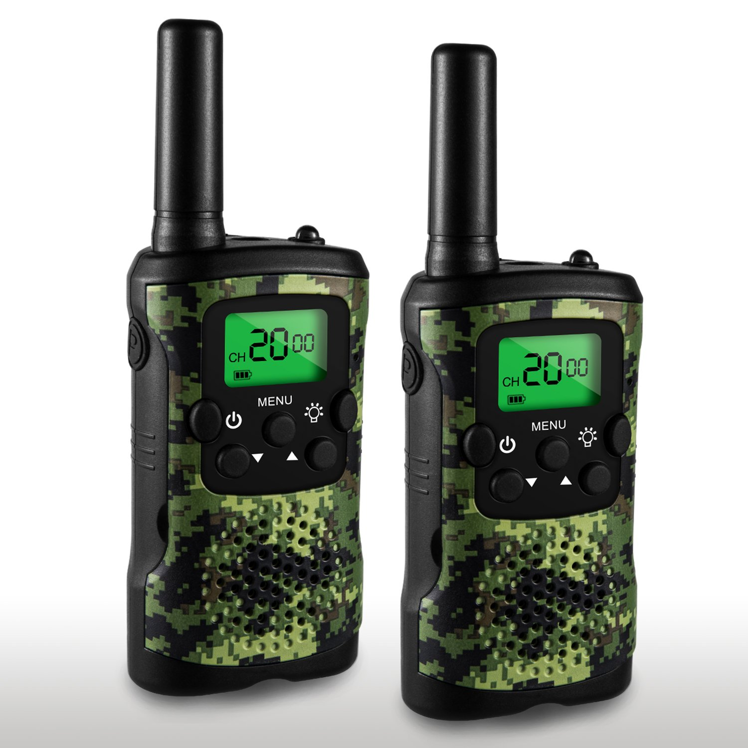 Walkie Talkies for Kids, 22 Channel Walkie Talkies 2 Way Radio 3 Miles (Up to 5Miles) Handheld Mini Walkie Talkies for Kids, Toys for 5-year old Boys and Girls (1 Pair) UOKOO