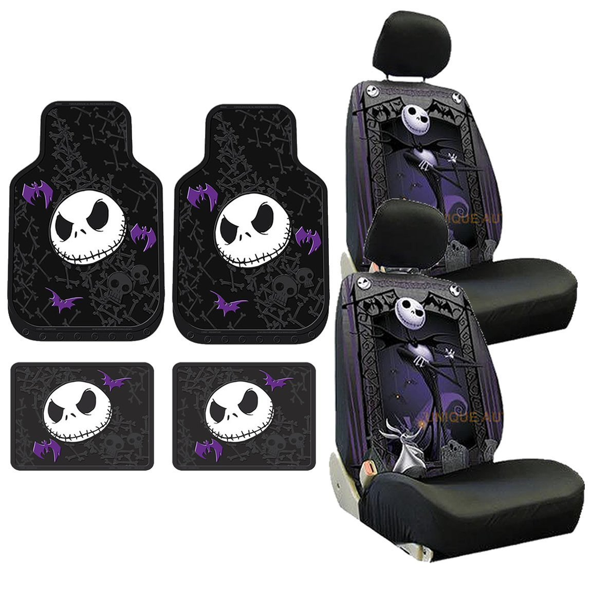 Amazon.com: 8pc Nightmare Before Christmas Jack Skellington Seat ...