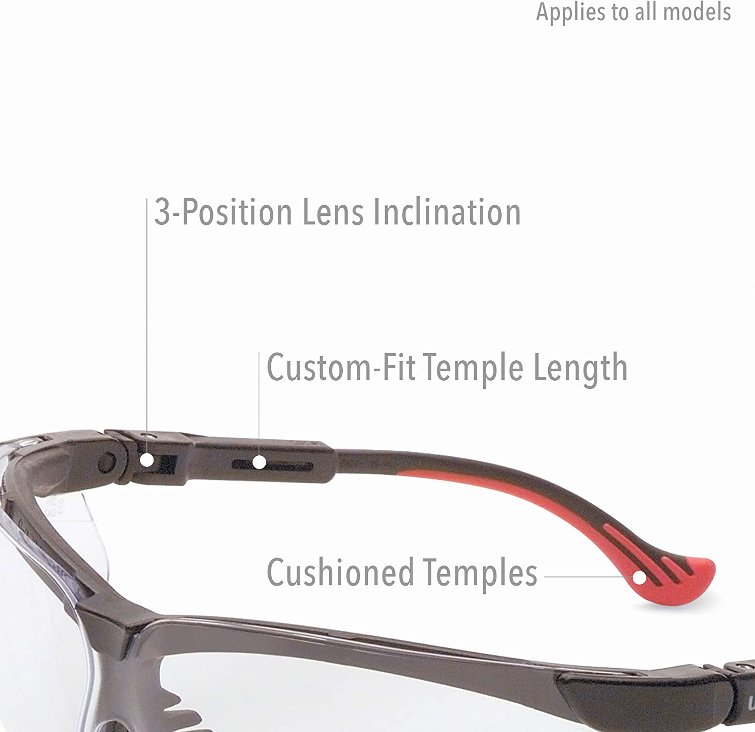 Black Frame with Shade 2.0 Infra-Dura Lens /& HydroShield Anti-Fog Coating Uvex by Honeywell Genesis XC Safety Glasses S3305HS