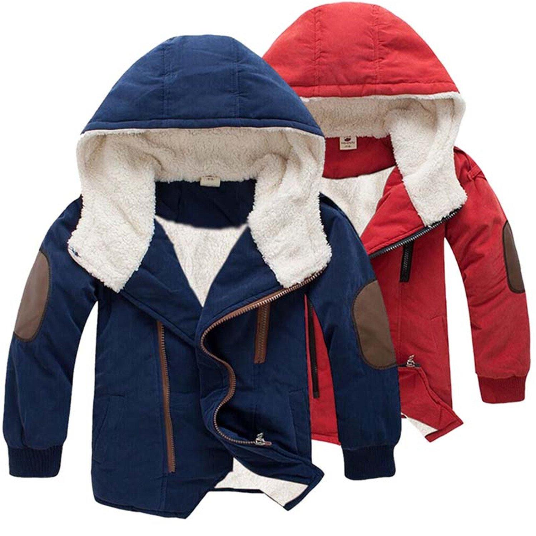 Sonms 3-11Yrs Baby Boys/&Girls Cotton Winter Fashion Jacket/&Outwear Cotton-padded Jacket Fur Winter Warm Coat