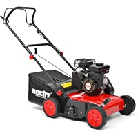 HECHT 5654 Rasen-Lüfter Motorvertikutierer (3,5 PS, 38 cm Arbeitsbreite, 6-fache zentrale Höhenverstellung, 40 Liter Fangkorb)
