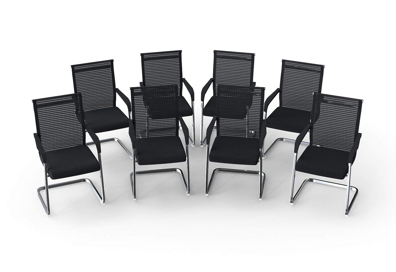 Sedia da conferenza e sala dattesa 4x-Set Grau Marina