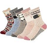 Women Cute Cartoon Socks - Casual Cotton Animal Pattern Crew Novelty Girls Socks