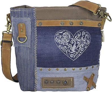 Trachtentasche Dirndltasche Damentasche Handtasche Umhängetasche Herz Schwarz