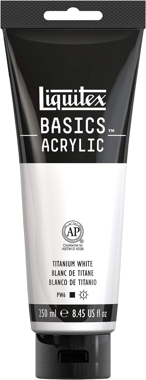 LIQUITEX BASICS TITANIUM WHITE ACRYLIC PAINT