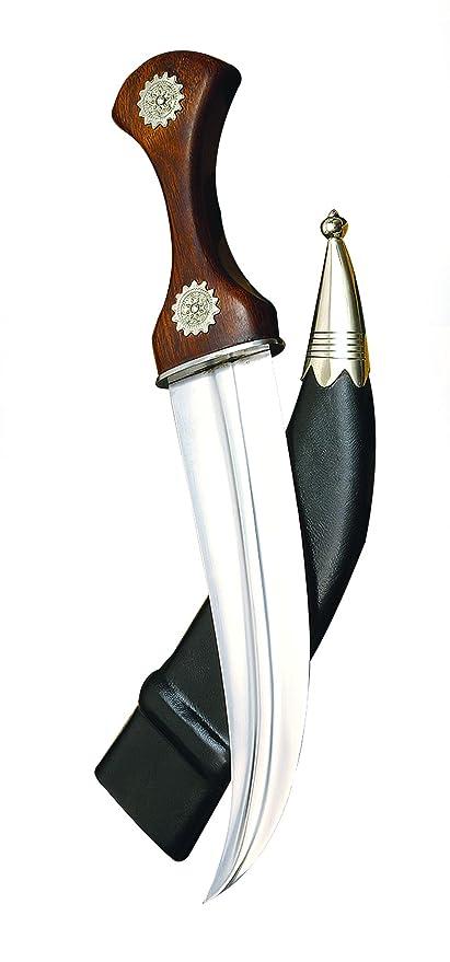 Amazon.com: Jambiya curvado cuchillo de hoja w/níquel ...