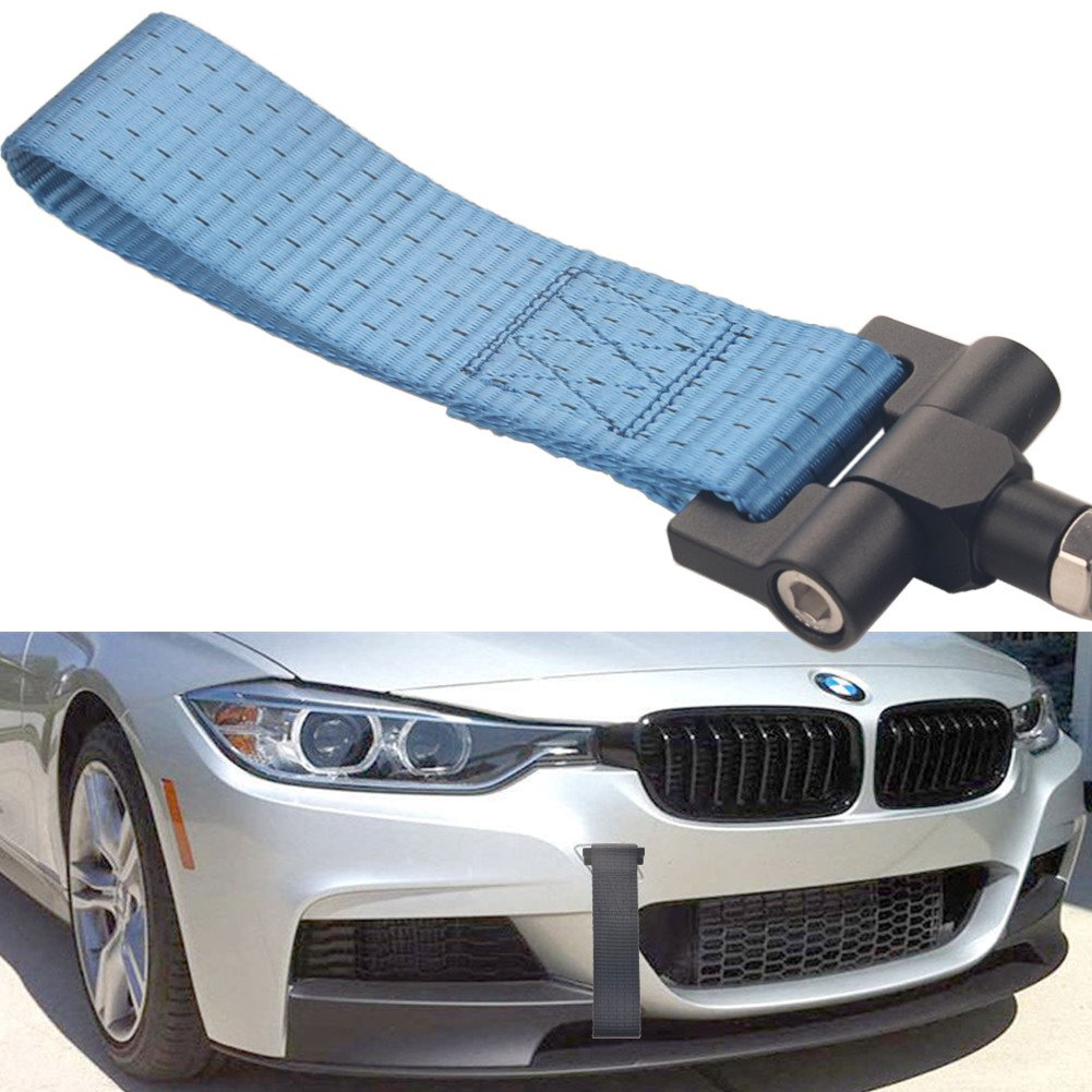 Z4,11-17 Mini Cooper F55 F56 Dewhel Track Racing Style Tow Hook w//Blue Towing Strap Front Rear Bumper Screw on For BMW 12-17 F30//F31 3 Series 4DR,14-up F32 F33 F36 4 Series 11-18 F10 G30 5 Series