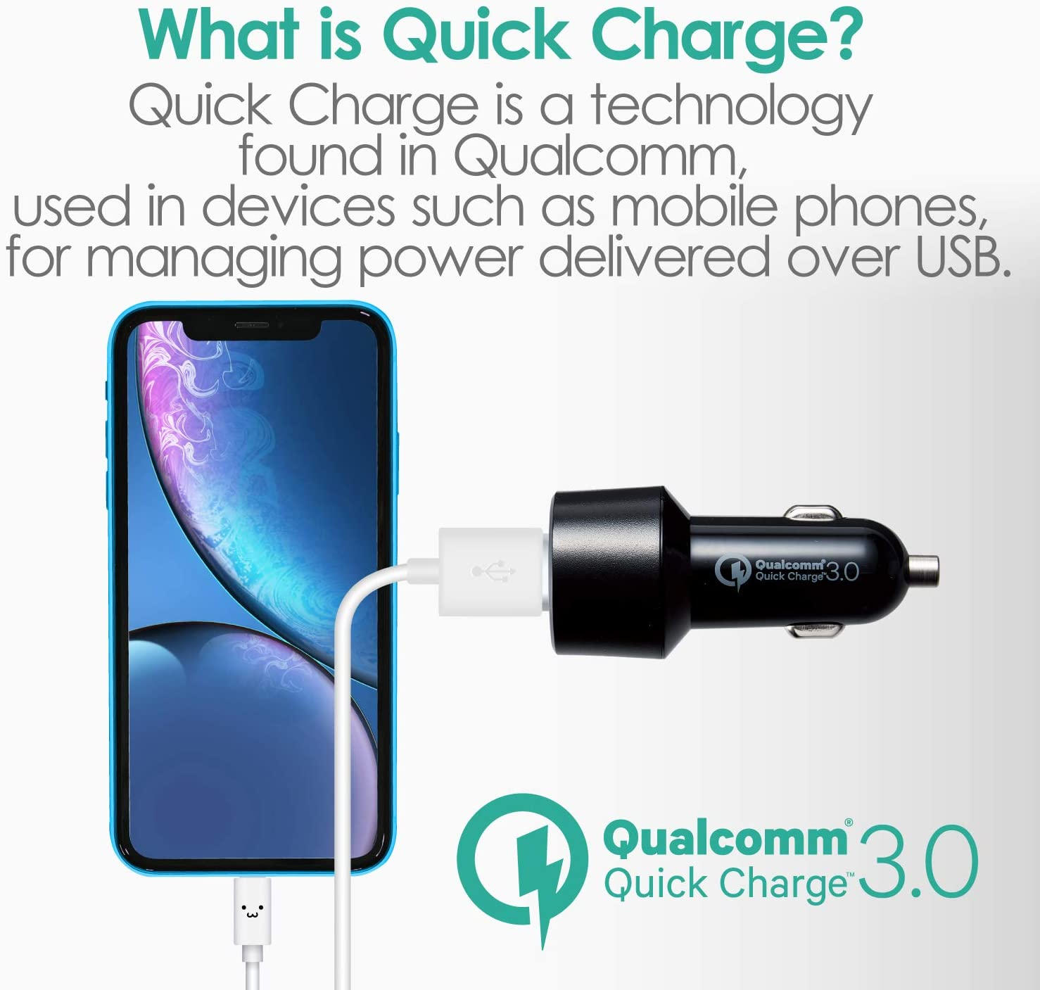 wumedy 3 Port USB Car Charger Mobile Phone QC 3.0 Charging Adapter Battery Chargers