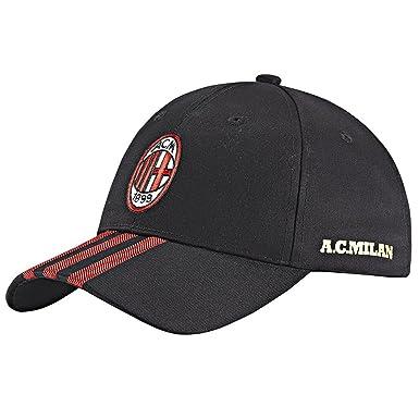 00b0916bce297 adidas Performance Official ACM AC Milan Football Baseball Cap - Black OSFM