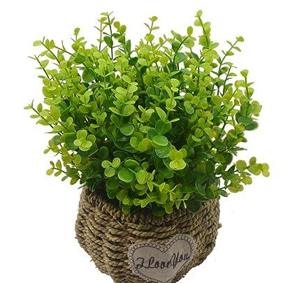 Lanldc Artificial Plants Bushes Fake Simulation Greenery Indoor Outside  Home/Garden/Office Verandah Wedding