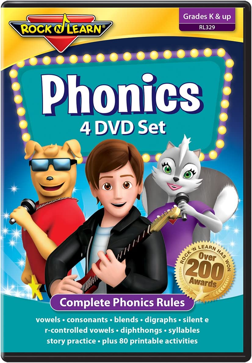 Phonics 4 DVD Set by : Complete Phonics Program with 81 Printable Worksheets