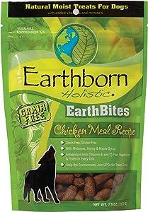 Earthborn Holistic EarthBites Chicken Meal Recipe Grain-Free Moist Treats for Dogs