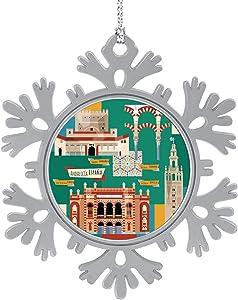 C COABALLA Sights of Andalusia.Seville,Cute 2020 Home Décor Hanging Snowflake Decorations Ornament Granada 3PCS