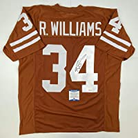 $104 » Autographed/Signed Ricky Williams Texas Orange College Football Jersey Beckett BAS…