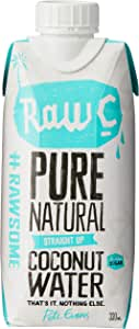 Natural Raw C Coconut Water, 12 x 330 Milliliters