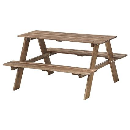 Ikea Panche Da Giardino.Ikea Reso Tavolo Con 2 Panche Fisse Da Bambini Da Pic Nic Legno