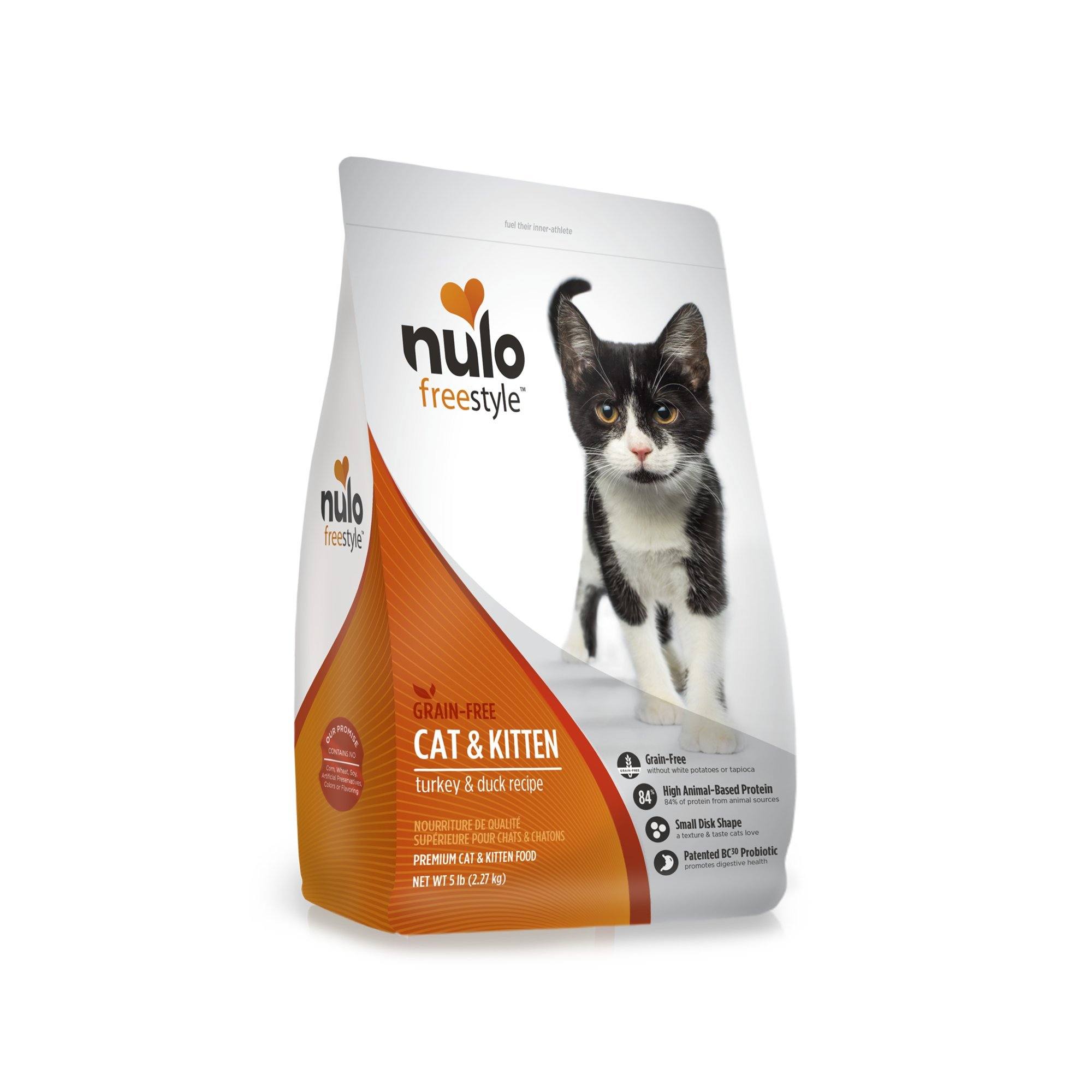 Nulo Adult & Kitten Grain Free Dry Cat Food With Bc30 Probiotic (Turkey, 5Lb Bag) by Nulo