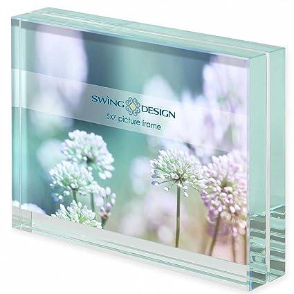 Glass Block Photo Frames Amazon Com Emerald Bevelled Glass Block