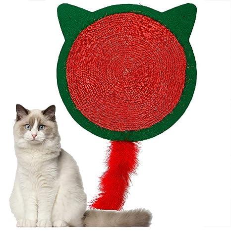 Poste para rascar Gatos, Cuerda de sisal Redonda y Alfombra ...