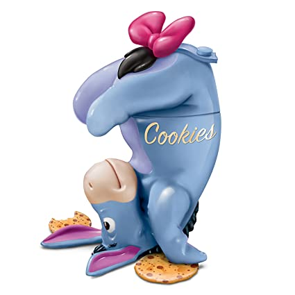 Disney Cookie Jars >> Disney Eeyore Fully Sculptural Stoneware Cookie Jar By The Bradford Exchange