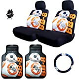 New Star Wars BB8 Car Truck SUV Seat Covers Steering Wheel Cover Floor Mats with Air Freshener