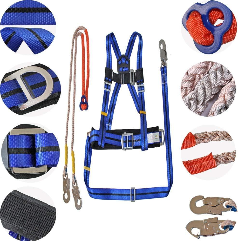 Uniquel Cinturón de Seguridad Anticaída, Arnés de Escalada Ajustable Arnés Proteger Cintura Protectora de Medio Cuerpo para MontañIsmo EspeleologíA de Nivel Superior