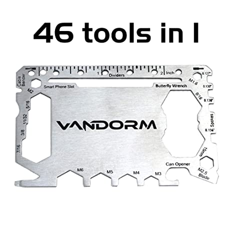 Vandorm Sport & Outdoors Tool Card - Tarjeta Multiusos (46 ...
