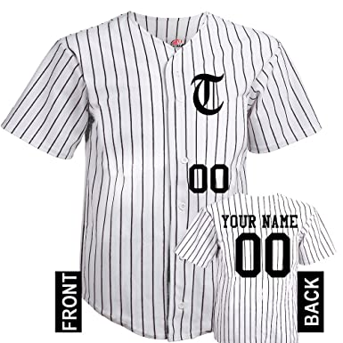 3ba3ee30c1e Hardkor Sports 6 Button Team Inital Baseball Jersey In Adult Small With  Black Pinstripes